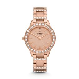 Fossil Jesse Crystal Rose Gold Dial Women's Watch - ES3020