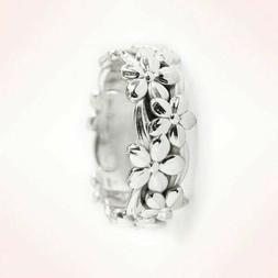 Jewelry Wedding Engagement Ring 925 Silver Woman 18K Rose Go