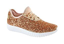 ROXY ROSE Women Fashion Jogger Sneaker - Lightweight Glitter