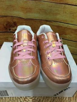 Airwalk Kids' Jazz Low-Top Light-Up Sneaker Rose Gold Big Ki