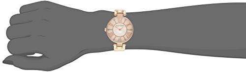 Anne Women's Rose Gold-Tone with Leather Band