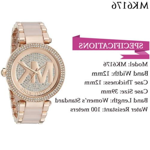 New Parker Rose Blush Pave Watch