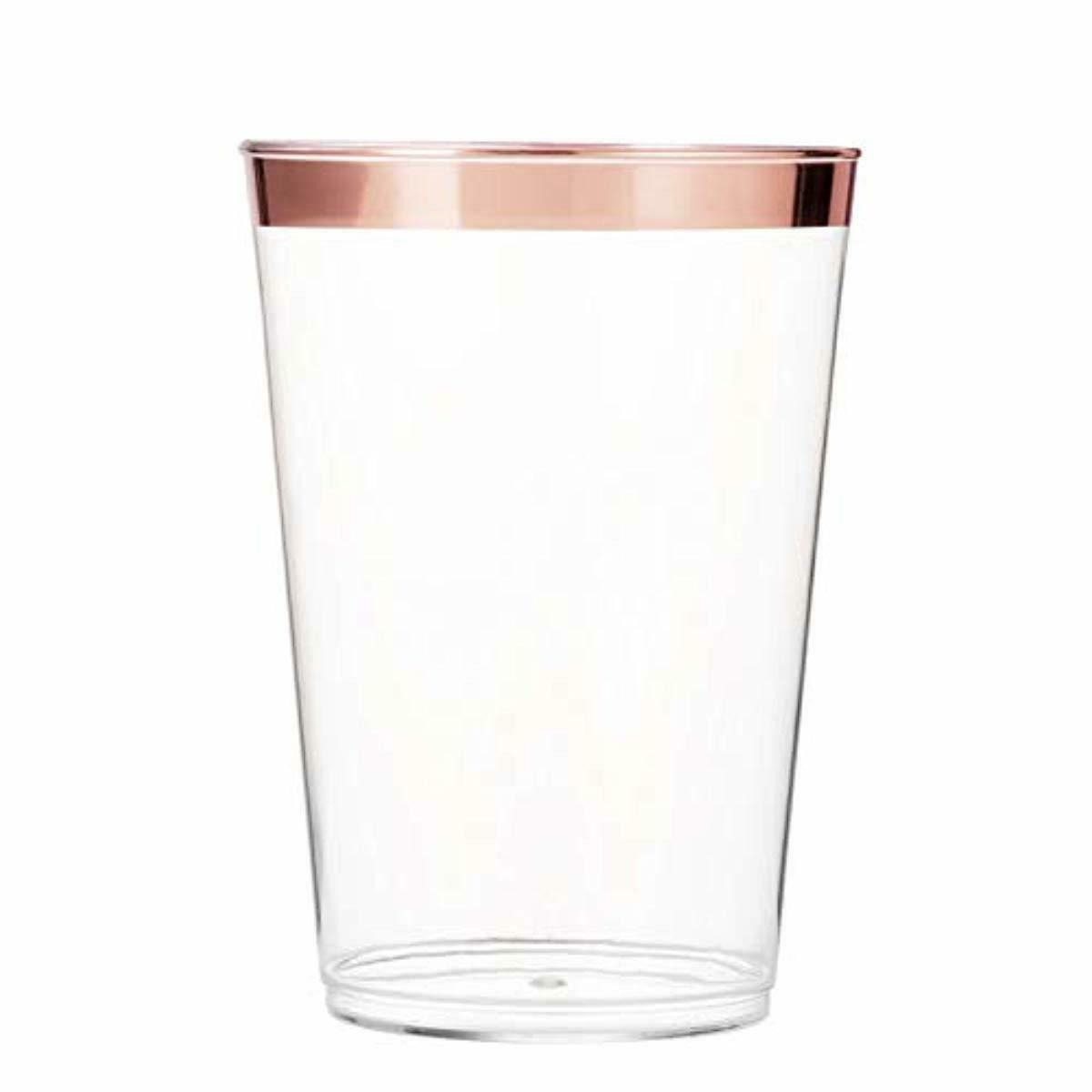 Cups Clear Tumblers Rimmed Fancy Wedding