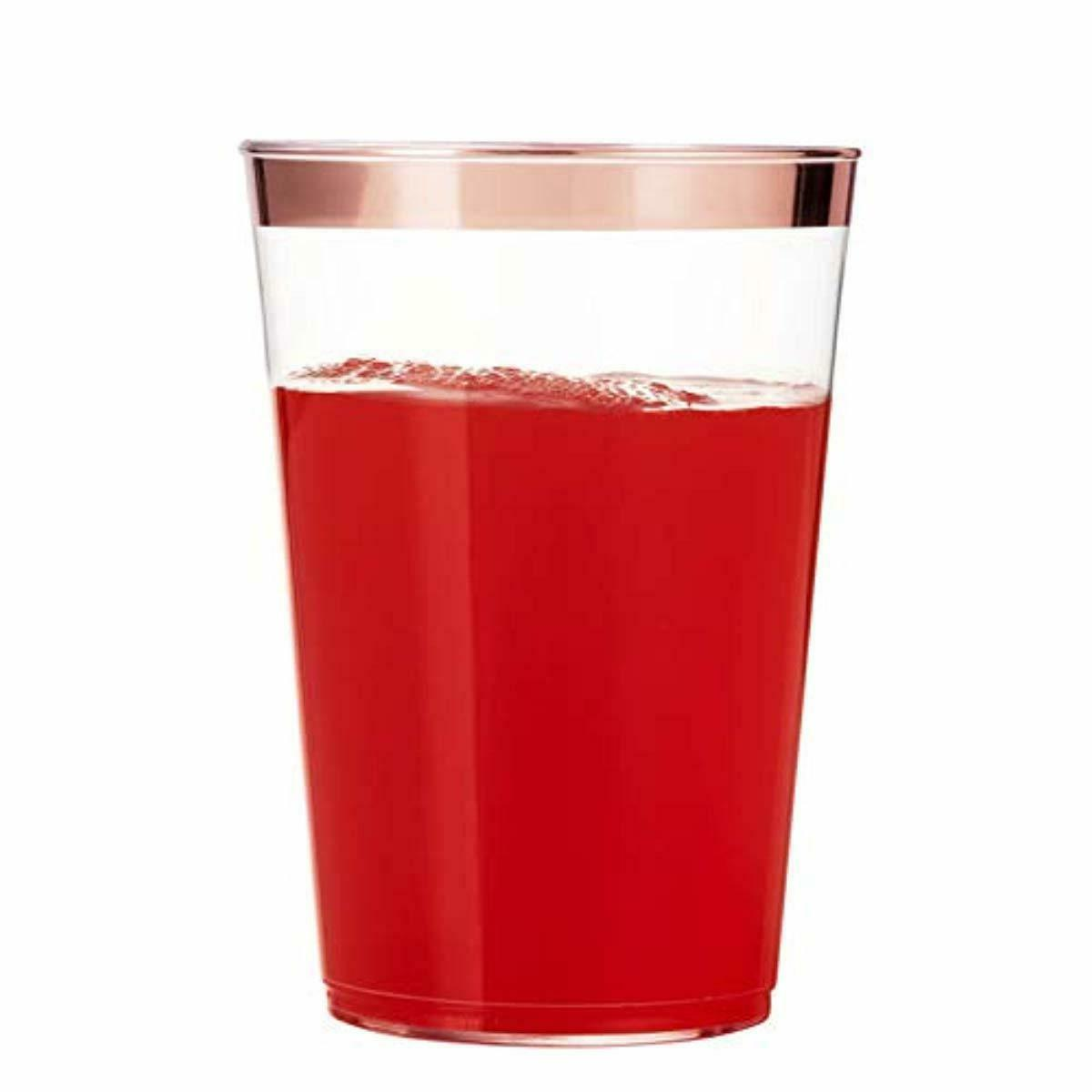 100 Tumblers Rimmed Fancy Disposable Wedding
