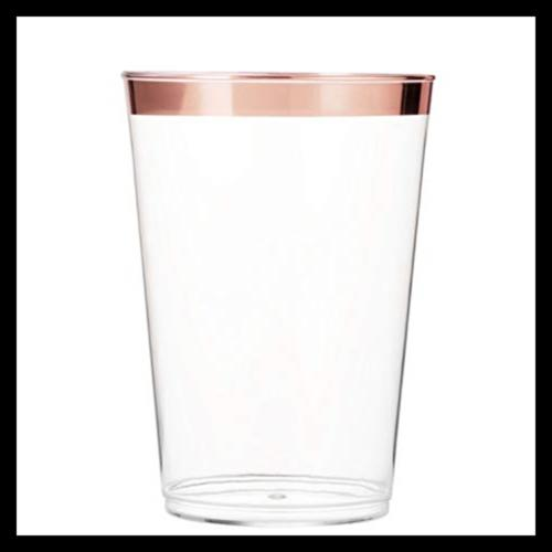 100 ROSE Cups 10 Tumblers Disposable Wedding