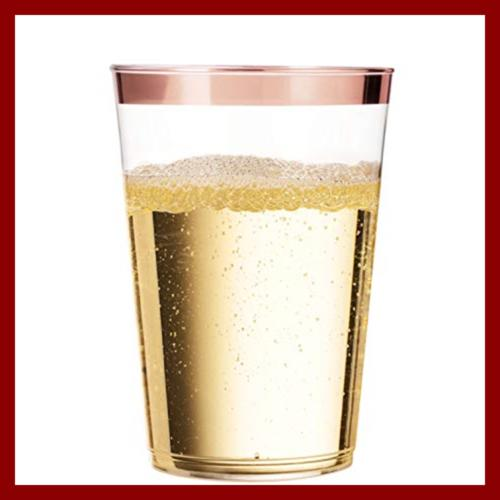 100 GOLD Cups Tumblers Rimmed Fancy Wedding