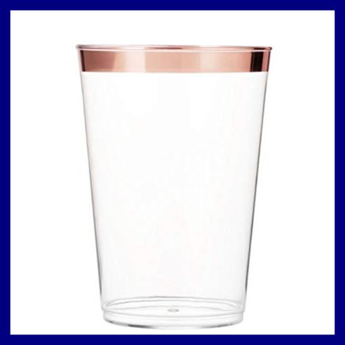 100 Tumblers Rimmed Fancy Wedding