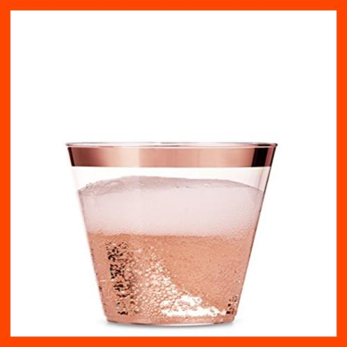 100 Plastic Cups Oz Clear Old Fashioned Fancy