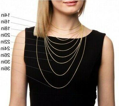 """10K 14K Rose White Yellow Rope Chain Pendant Necklace 14""""-30"""""""