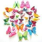 12PCS 3D Butterfly Plastic Fridge Pin Wall Sticker Living Ro