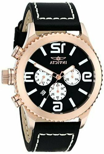 "Invicta Men's 1429 ""II Collection"" 18k Rose Gold-Plated Stai"