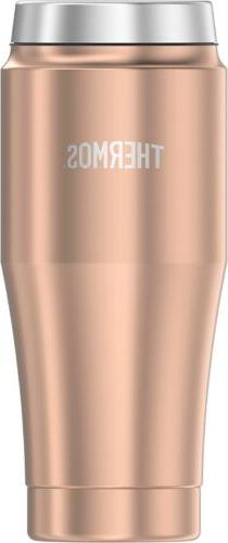 Thermos 16 Ounce Stainless Steel Travel Tumbler, Rose Gold