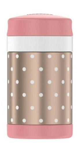 Thermos 16oz Funtainer Food Jar Gold Dots