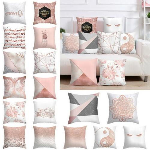 Cushion Case Home Rose Pink US