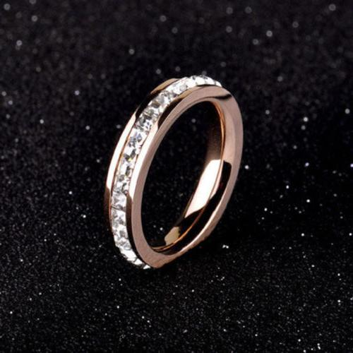 18K Titanium Steel Rings Wedding Band