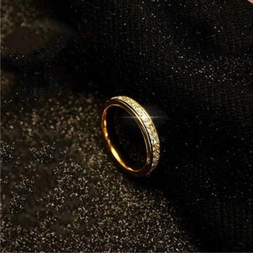 18K Titanium Steel Rings Wedding Band Size