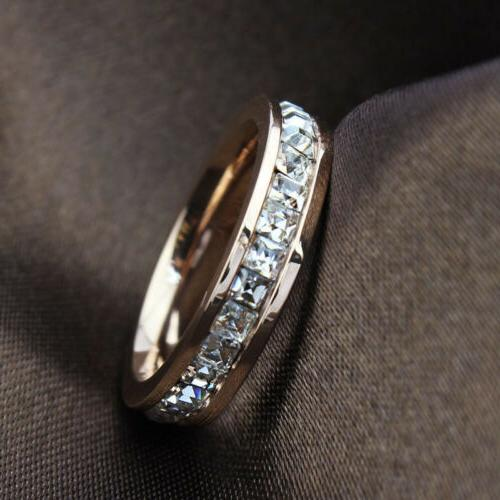 18K Titanium Steel Rings Women's Wedding