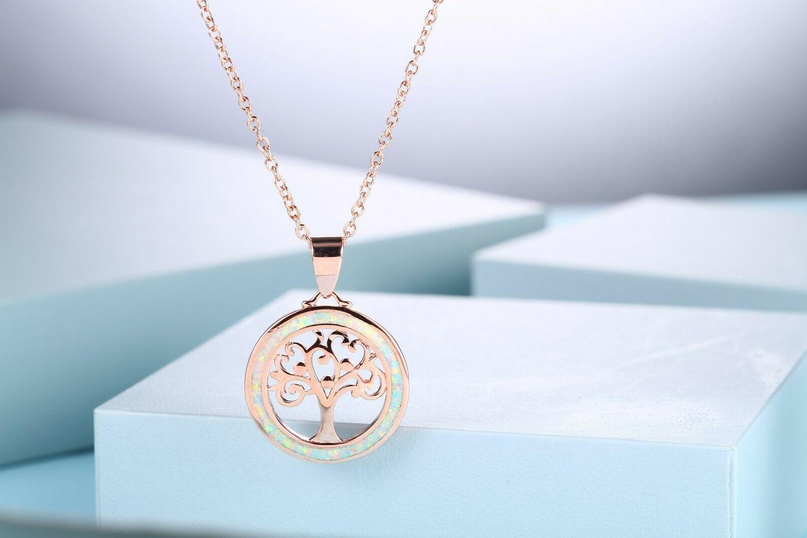 Sevil Rose Plated of Life Pendant Necklace