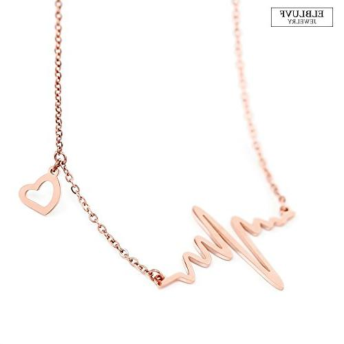 ELBLUVF 18k Gold Plated Heart Love