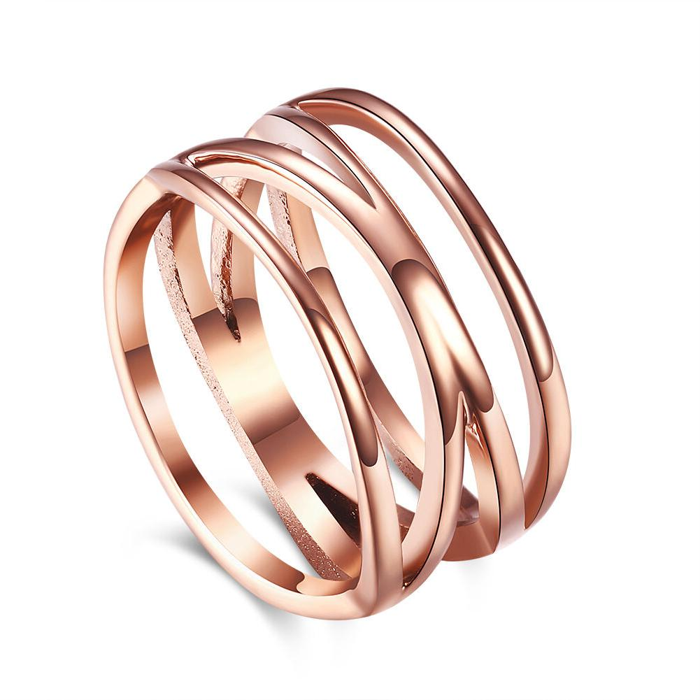 18k rose gold stainless steel fashion ring