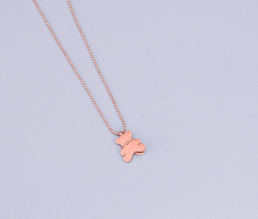 18KGP Gold Tone Teddy with Heart