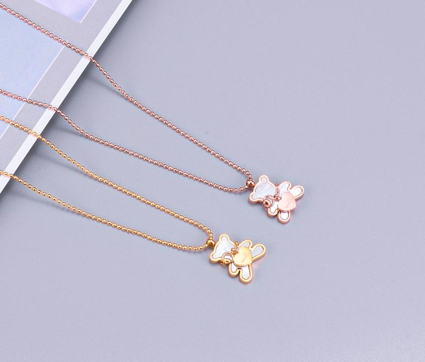 18KGP Gold Tone Mother-of-Pearl with Heart Pendant Necklace