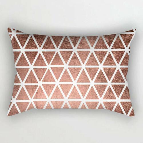 1PC Throw Cushion Case Bedroom 30x50cm Rose Gold Tone