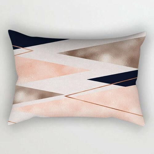 1PC Throw Cushion for Bedroom Car Rose Gold Tone
