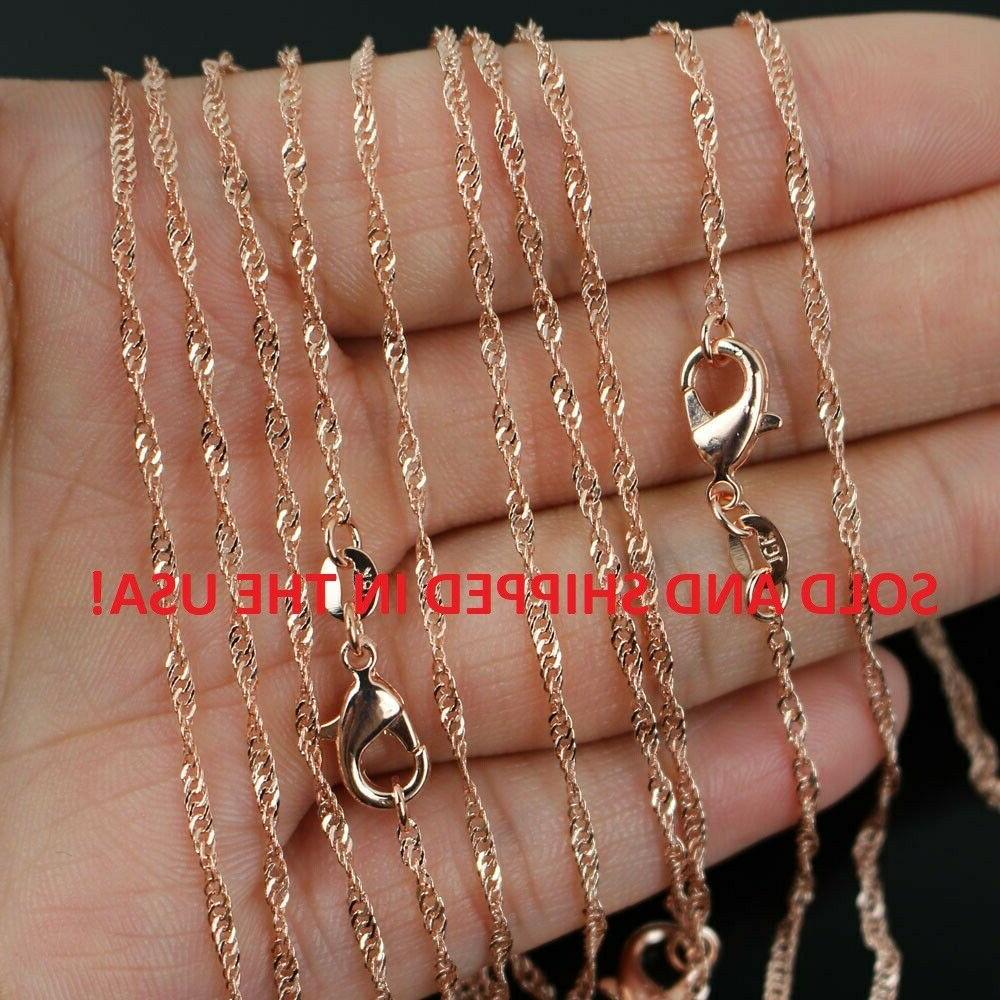 24 inch 18k rose gold plated water