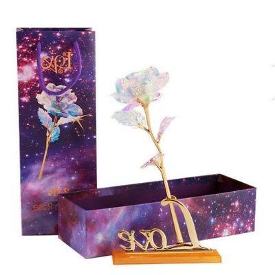 24K Plated Dipped Flowers Valentine's Gift Lovers' Box