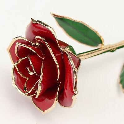 24K Rose Flower Real Stem Mother's For Women
