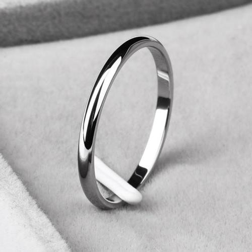 2MM Steel Wedding Couples Ring