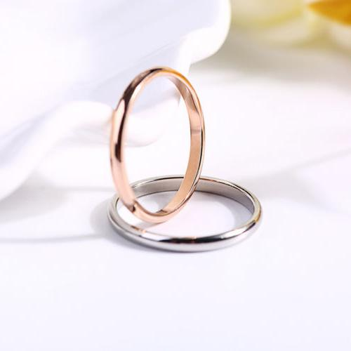 2MM Gold/Silver/Gold/Black Stainless Steel Band Couples Ring