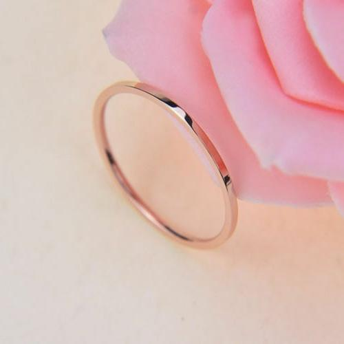 2mm Round Plated Ring Band Rings