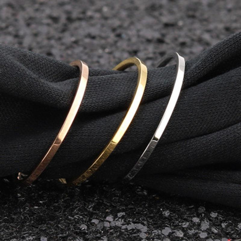 2mm Gold Plated Ring Men/Women's Wedding Band Rings