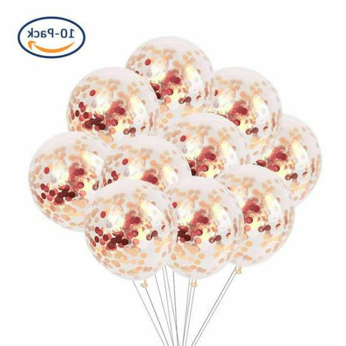 40 PCS Gold Confetti Balloons Wedding