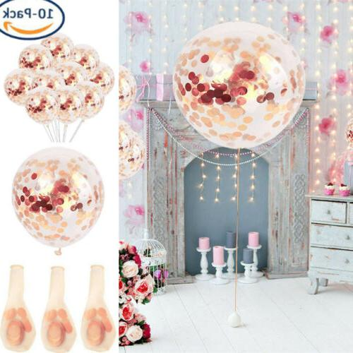 40 pcs 12 rose gold latex confetti