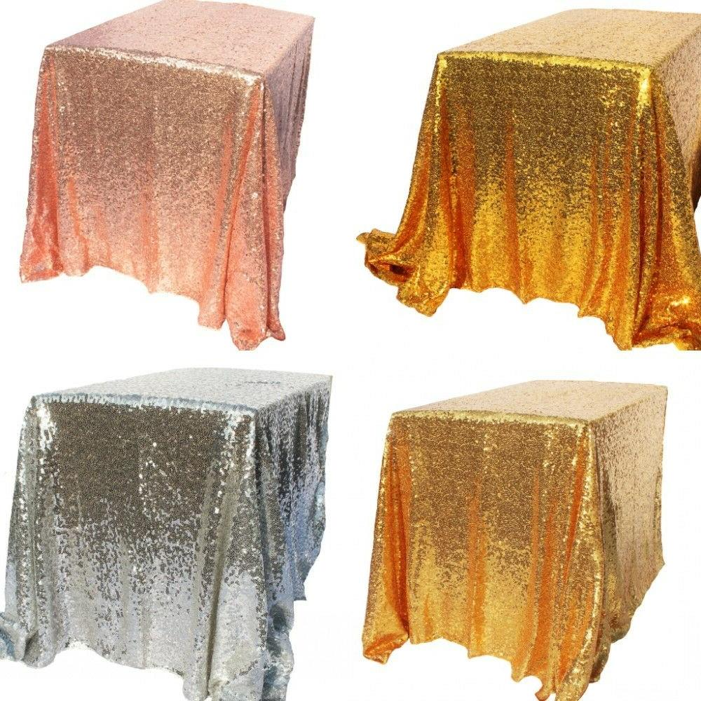 4Colors Sparkly Sequin Tablecloth 100x150cm Wedding Event Pa
