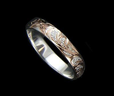 4MM SILVER SCROLL RING 1 12