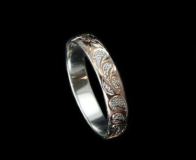 4mm rose gold plated silver 925 hawaiian