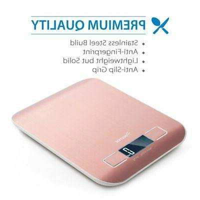 5000g 1 LCD Digital Food Diet Weight Scale - Rose Gold