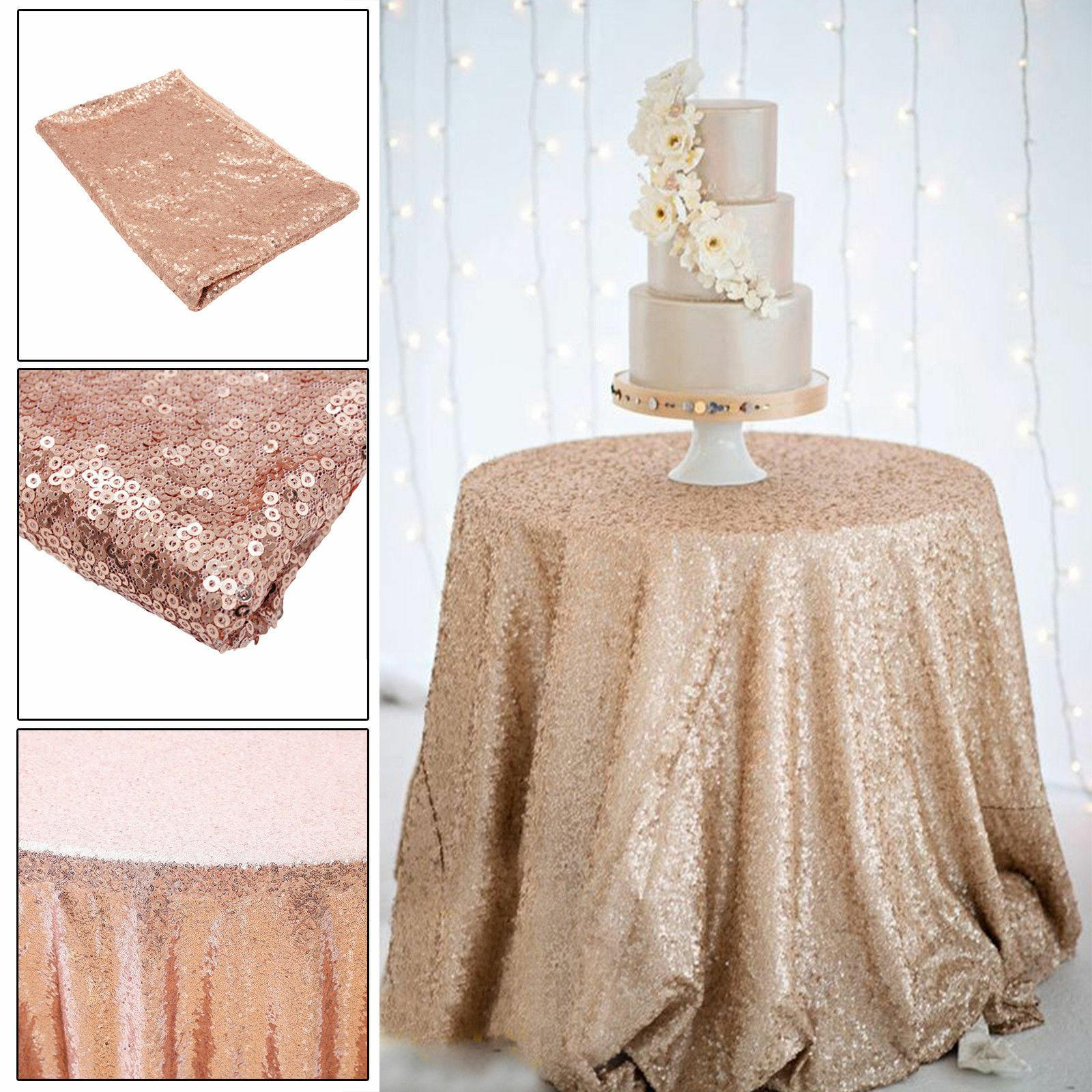 60/80/120CM Sequin Glitter Tablecloth Table Cloth Cover For