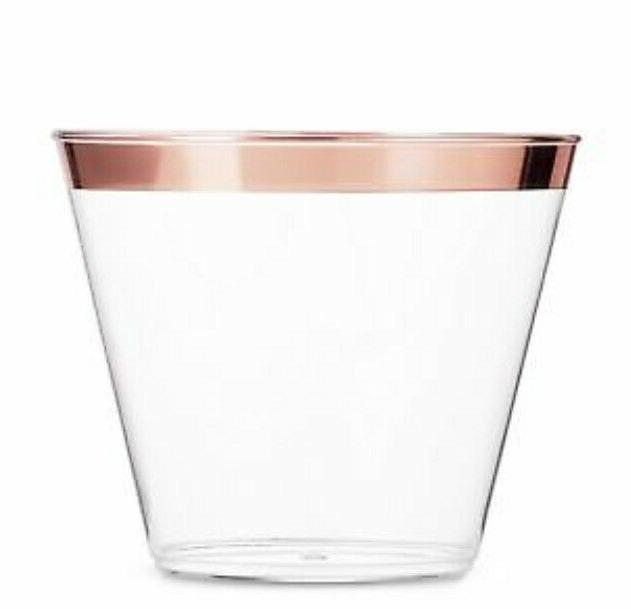 60 plastic cups 9 oz clear old
