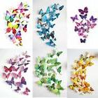 72 3D Wall Butterfly Art Sticker Wall Home Room Magnet Decal