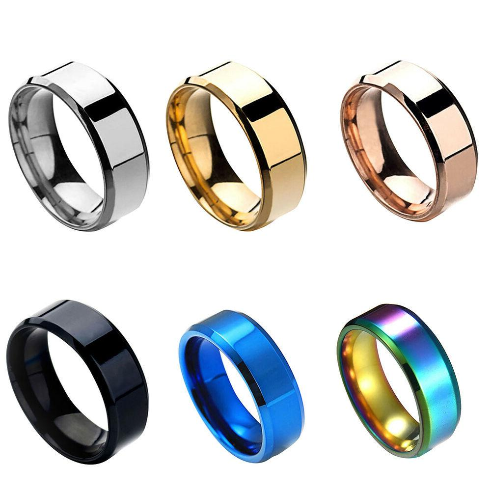 8MM Steel Womens Ring Band