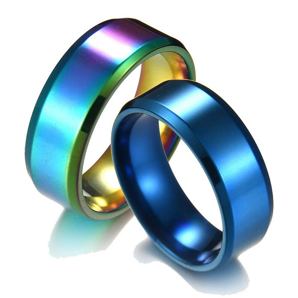 8MM Stainless Womens Ring Band Novelty