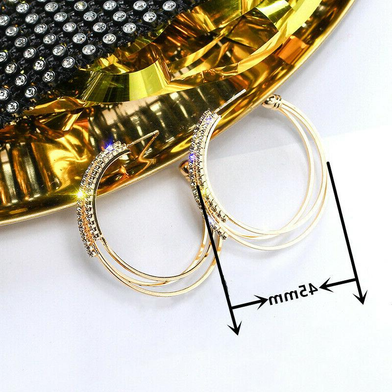 925 Silver,Gold,Rose Gold Earrings Fashion Jewelry