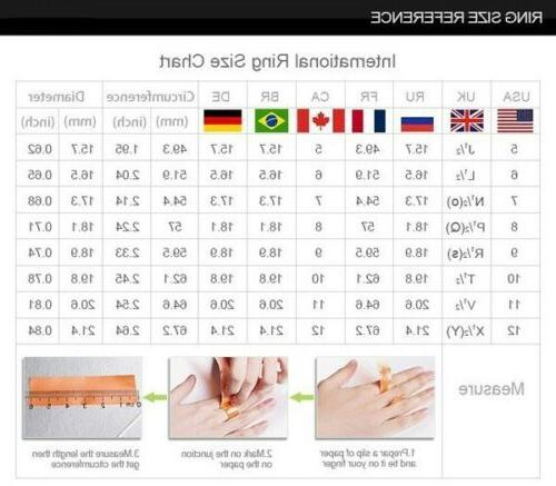 925 Gold Round Cut Engagement Rings Women S 6-10