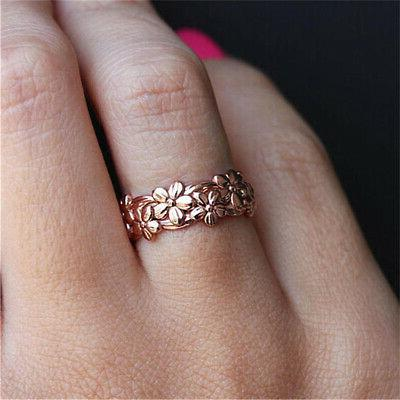 925 Silver 18K Rose Gold Plated Jewelry Wedding Engagement 6-10