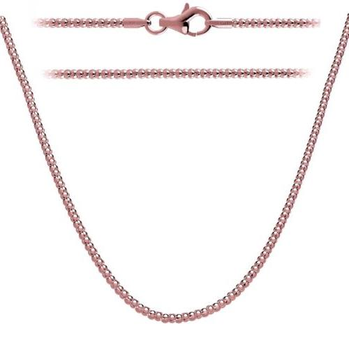 925 sterling silver rose gold plated chain